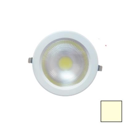Imagen de Downlight LED COB Redondo Blanco 30W Blanco Cálido