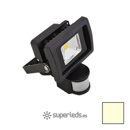 Imagen de Foco LED 10W Sensor Movimiento Blanco Cálido