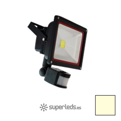 Imagen de Foco LED 30W Sensor Movimiento Blanco Cálido