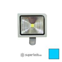 Image de Foco LED 30W Sensor Movimiento Cuerpo Gris Blanco Cálido