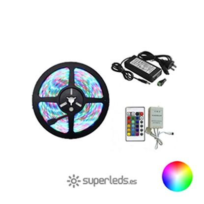 Imagen de KIT Tira LED SMD5050 IP20 30 led 12V 7,2W RGB