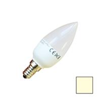 Image de Lote 10 Bombillas LED Vela E14 6W Blanco Cálido