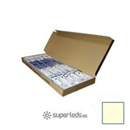 Imagen de Caja 25 Tubos LED T8 60cm 10W Blanco Cálido