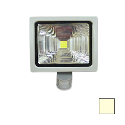 Imagen de Foco LED 50W Sensor Movimiento Blanco Cálido