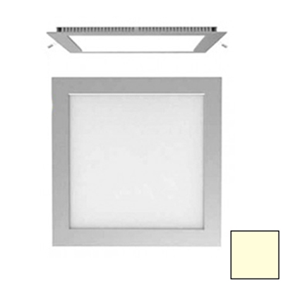 Imagen de Downlight LED Cuadrado Plata 18W Blanco Cálido