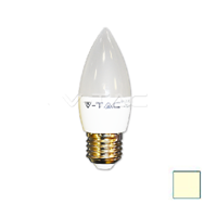 Image de Lote 10 Bombillas LED Vela E27 6W Blanco Cálido