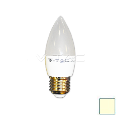 Imagen de Lote 10 Bombillas LED Vela E27 6W Blanco Cálido