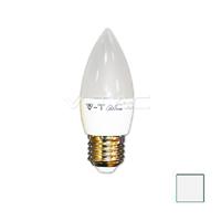 Image de Lote 10 Bombillas LED Vela E27 6W Blanco Natural